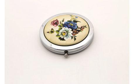 Kapesní kosmetické zrcátko Retro Flowers