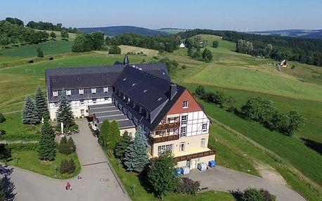 Německo: Krušné hory, polopenze a sauna