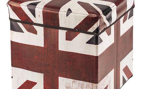 Skládací sedací box s potiskem Great Britain,