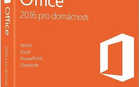 Software Microsoft Office 2016 pro domácnosti a studenty, česká 79G-04723