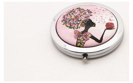 Kapesní kosmetické zrcátko Dolls růžové světlé