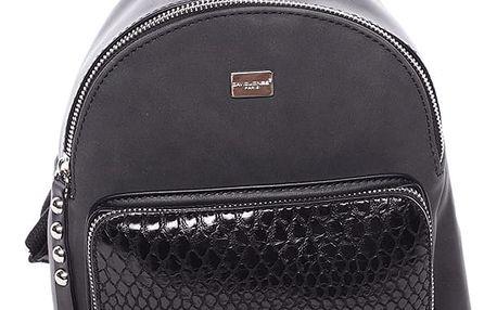 Moderní menší batůžek pro ženy černý - David Jones Sakar černá