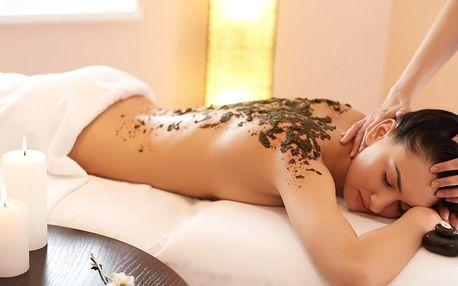 Relaxační masáž zad s rašelinovým zábalem