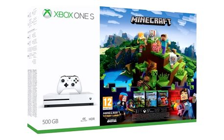 Herní konzole Microsoft 500 GB + Minecraf, Minecraft Story Mode, 3 měsíční Zlaté členství Xbox Live (ZQ9-00297) + DOPRAVA ZDARMA
