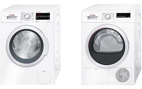 Set (Sušička prádla Bosch WTH85207CS) + (Automatická pračka Bosch WAT28467CS) + DOPRAVA ZDARMA