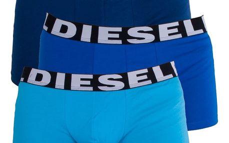 3PACK Pánské Boxerky Diesel Trunk Turquoise Royal Blue Shawn M