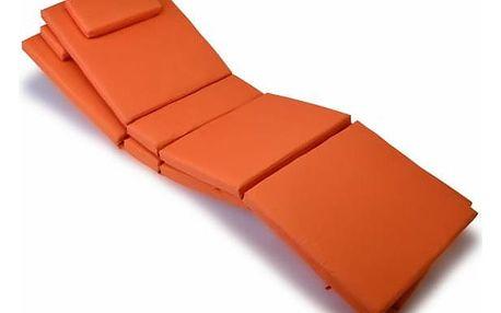 Divero 9601 Sada 2x polstrování na lehátko - oranžová