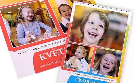 Nástěnný kalendář s vašimi vlastními fotografiemi v různých formátech