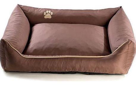 Pelech Argi pro psa obdélníkový - 120x90 cm / snímatelný potah hnědý + Doprava zdarma