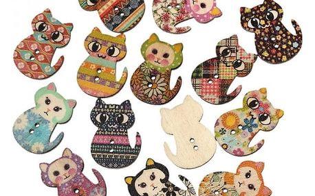 Knoflíky s kočkami - 100 kusů
