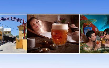 Rožnovské pivní lázně s pivní konopnou péčí a mořskými lázněmi pro 2