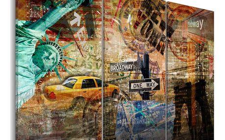 Obraz na plátně - The essence of NYC 120x80 cm