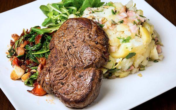 4chodové menu pro 2: Steak i tvarohová tečka