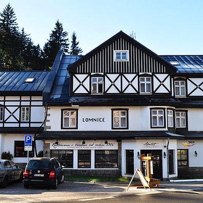 Hotel Lomnice, Pohodový pobyt v centru Špindlerova Mlýna s polopenzí