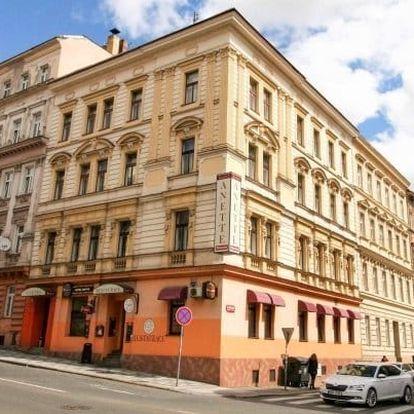 Praha ve 3* hotelu se snídaní a saunou