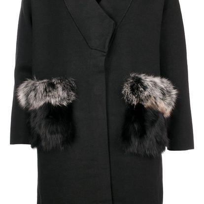JOYx Kombinovaný kabátek s pravou kožešinou