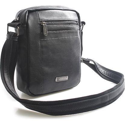 Černá taška přes rameno na doklady Bellugio Blake černá