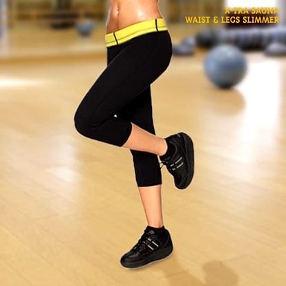 Tříčtvrteční Legíny X-Tra Sauna Waist + Legs Slimmer