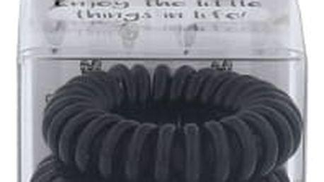 2K Hair Tie 3 ks gumička na vlasy pro ženy Black