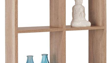 Regál nástěnný alex *cenový trhák*, 60/60/18 cm