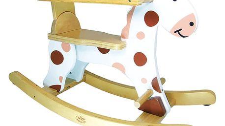VILAC Dřevěné hračky - Dřevěný houpací kůň bílý