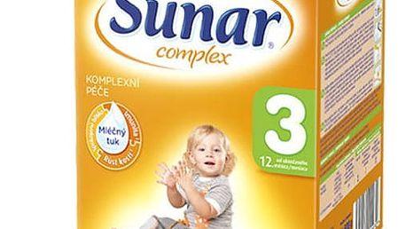 8x SUNAR Complex 3 (600 g) - kojenecké mléko