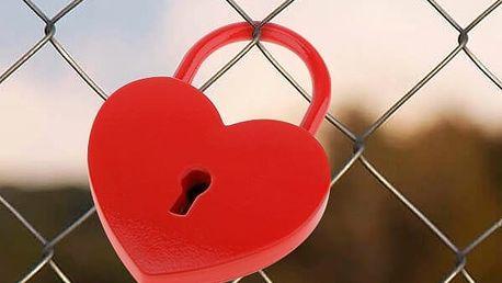 Visací Zámek s Klíčem Red Heart Romantic Items