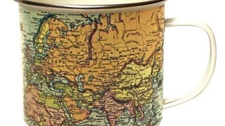 Plecháček s mapou světa