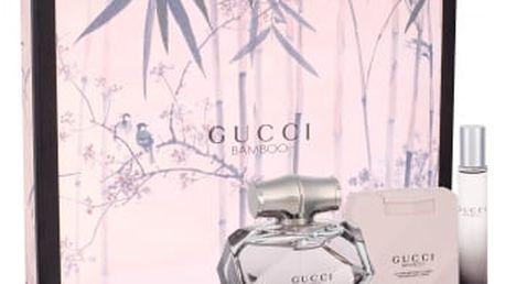 Gucci Gucci Bamboo dárková kazeta pro ženy parfémovaná voda 75 ml + tělové mléko 100 ml + parfémovaná voda 7,4 ml