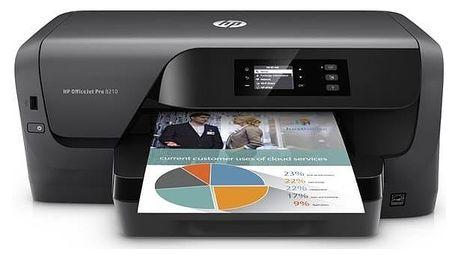 Tiskárna inkoustová HP Officejet Pro 8210 (D9L63A#A81) černá + Doprava zdarma