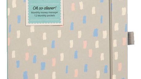 Busy B Notes na domácí finance, šedá barva, multi barva, papír