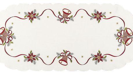 Forbyt Vánoční ubrus Zvonky, 40 x 90 cm, 40 x 90 cm