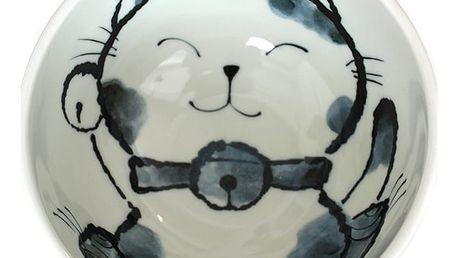 MIJ Velká miska Kids Maneki Design růžová 16 cm