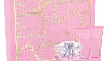 Versace Bright Crystal EDT dárková sada W - EDT 50ml + tělové mléko 50 ml + sprchový gel 50 ml