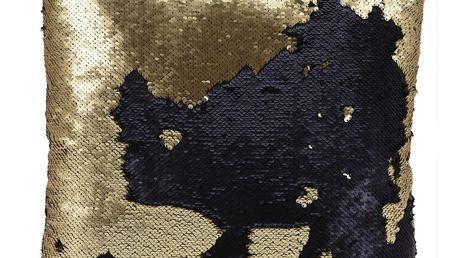 Dekorační polštářek Miracle zlatá, 45 x 45 cm