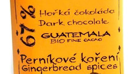 BIO Hořká čokoláda s perníkovým kořením 67% Willy & Pauli 50 g