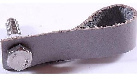 La finesse Kožená úchytka šedá 9 cm, šedá barva, kůže