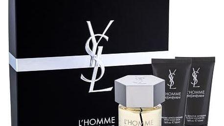 Yves Saint Laurent L´Homme EDT dárková sada M - EDT 60 ml + balzám po holení 50 ml + sprchový gel 50 ml