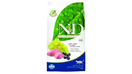 Granule N&D Grain Free CAT Adult Lamb & Blueberry 1,5 kg + Doprava zdarma