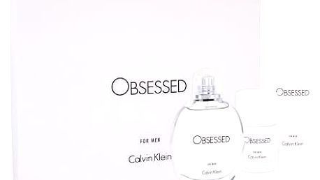 Calvin Klein Obsessed For Men EDT dárková sada M - EDT 125 ml + sprchový gel 100 ml + deostick 75 ml