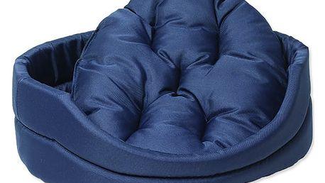 Pelíšek DOG FANTASY ovál s polštářem tmavě modrý 42 cm 1ks