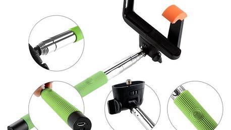 Selfie tyč GoGEN 2 teleskopická, bluetooth (GOGBTSELFIE2G) zelená