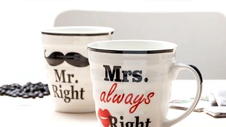 Hrnky Mr. Right + Mrs. Always Right