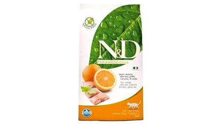 Granule N&D Grain Free CAT Adult Fish & Orange 1,5 kg + Doprava zdarma