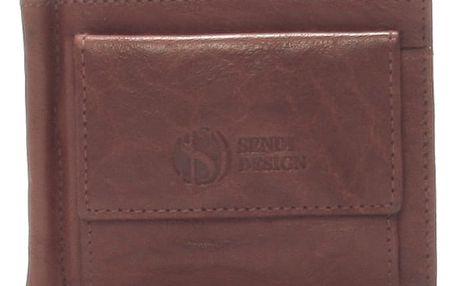 Pánská kožená dolarovka hnědá - Sendi Design 57 hnědá