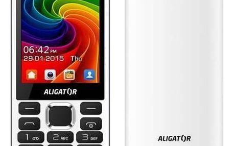 Mobilní telefon Aligator D940 Dual Sim (AD940WG) bílý + Doprava zdarma