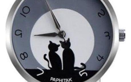 Dámské hodinky se zamilovanými kočičkami - 12 barev