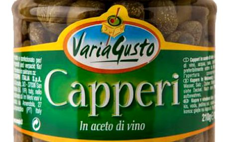 Kapary ve vinném octě Varia Gusto 210 g