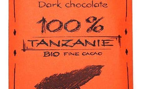 BIO Hořká čokoláda 100% Tanzánie Willy & Pauli 50g