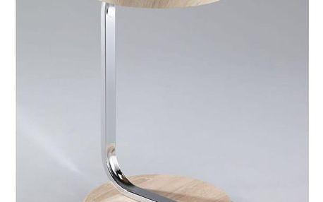 Příruční stolek se zářezem na tablet, MDF + chrom, dub sonoma, MILANA